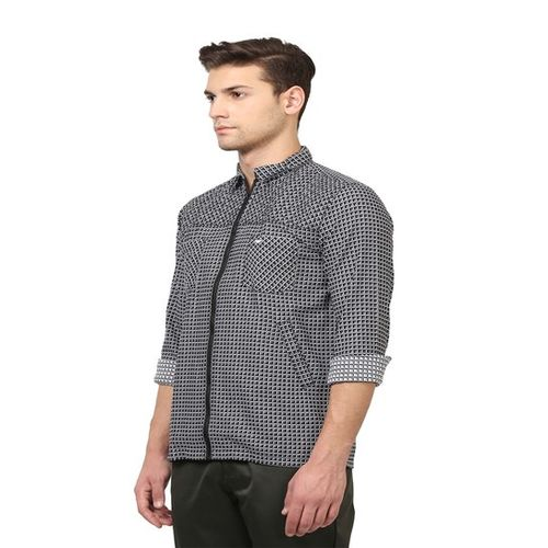 Park Avenue Black Slim Fit Checks Shirt