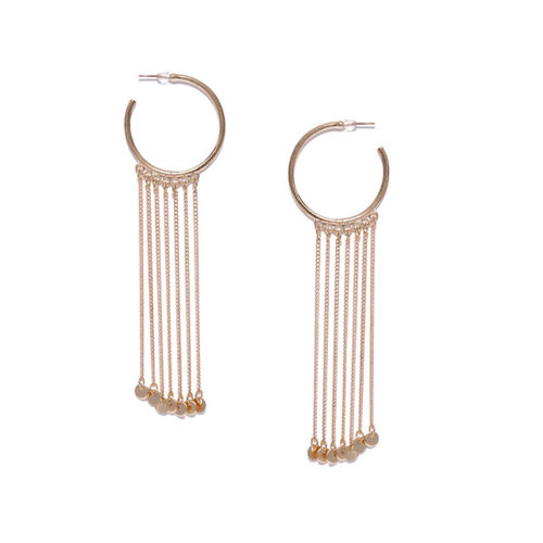 ToniQ Gold-Toned Circular Half Hoop Earrings