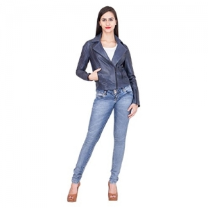 JUSTANNED QUILTED WOMEN'S BIKER JACKET.