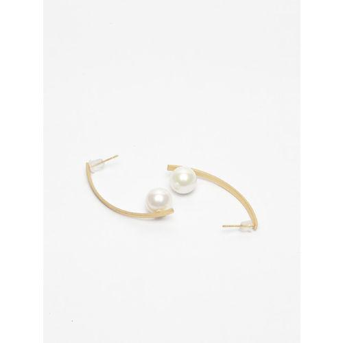 PRITA Gold-Toned Circular Drop Earrings