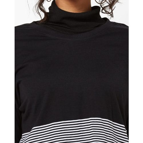 Teamspirit Colourblock Crew-Neck T-shirt with Extended Sleeves
