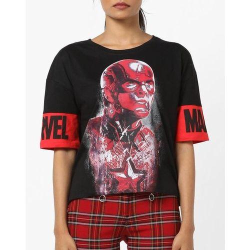 DISNEY Captain America Print Round-Neck T-shirt