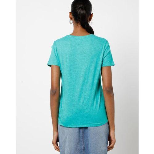 ONLY Typographic Print Crew-Neck T-shirt