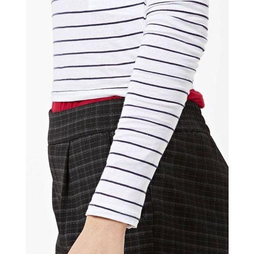 TALLY WEiJL Striped Round-Neck T-shirt