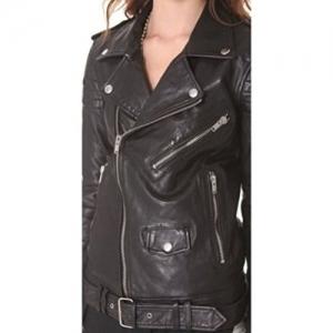 NOORA Women's Pure Slim Fit Leather Jacket
