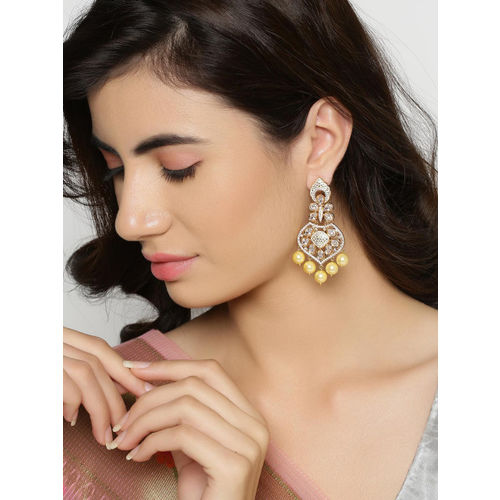 Tistabene Gold-Plated Contemporary Enamelled Drop Earrings