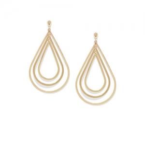 OOMPH Gold-Toned Teardrop Shaped Drop Earrings