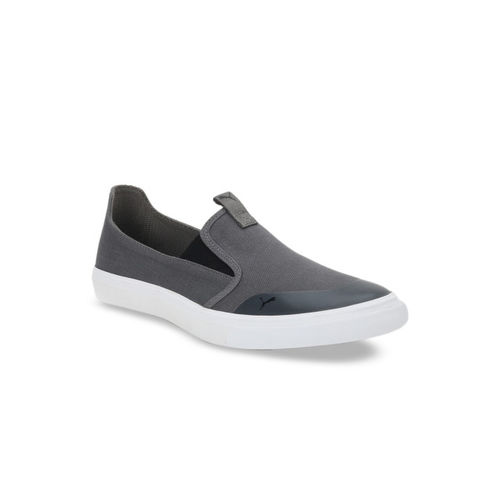 Puma Men Grey Slip-On Sneakers