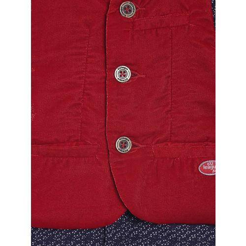 612 league Boys Printed Casual Shirt with a Waistcoat