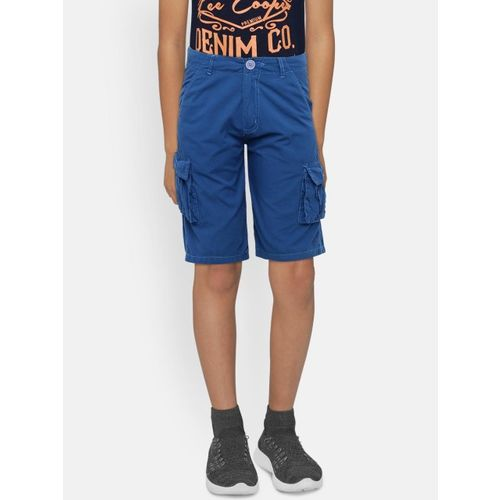 612 league Boys Blue Solid Regular Fit Cargo Shorts
