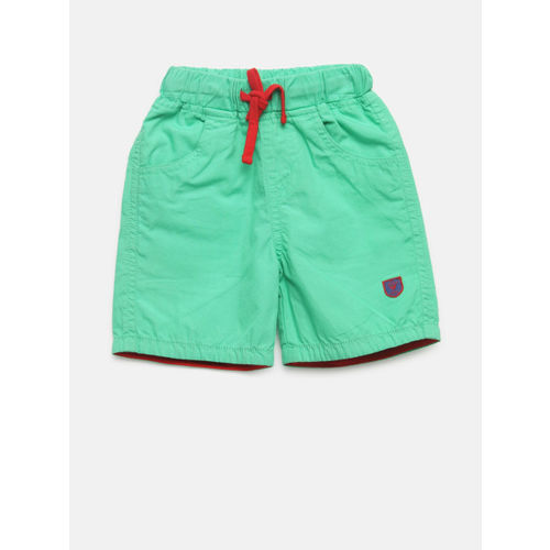 612 league Boys Green Solid Regular Fit Regular Shorts
