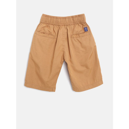 612 league Boys Brown Solid Regular Fit Shorts