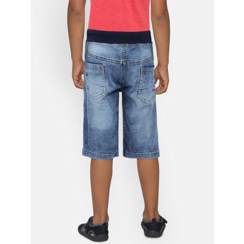612 league Boys Blue Washed Denim Shorts