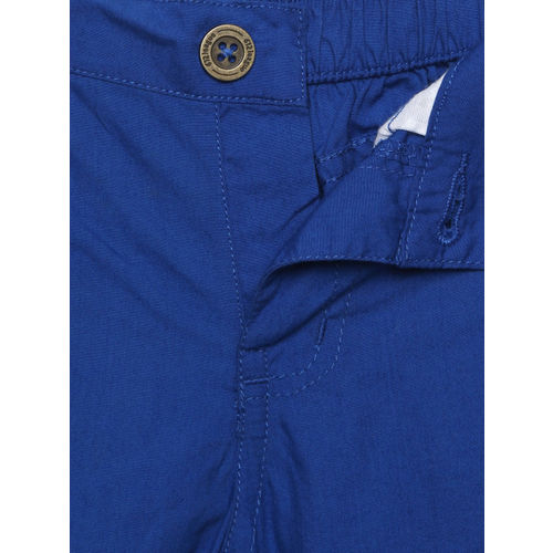 612 league Boys Blue Solid Regular Fit Shorts