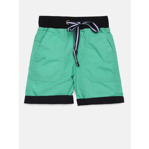 612 league Boys Green Solid Regular Fit Regular Shorts