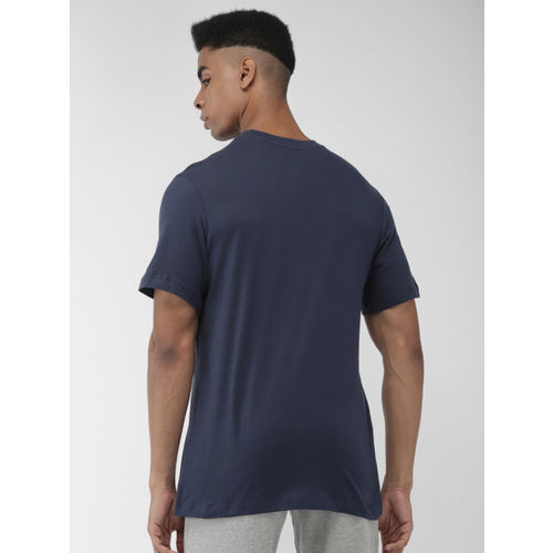 Nike Men Navy Blue Printed PSG EVERGREEN CREST Round Neck T-shirt