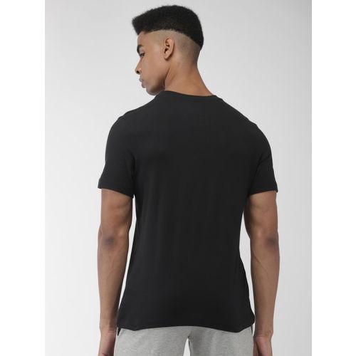Nike Men Black & Pink Printed Standard Fit AS SS TEE EXP 2 T-shirt