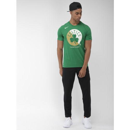 Nike Men Green & White Printed Standard Fit NW SP LGO Boston Celtics Dri-FIT T-shirt