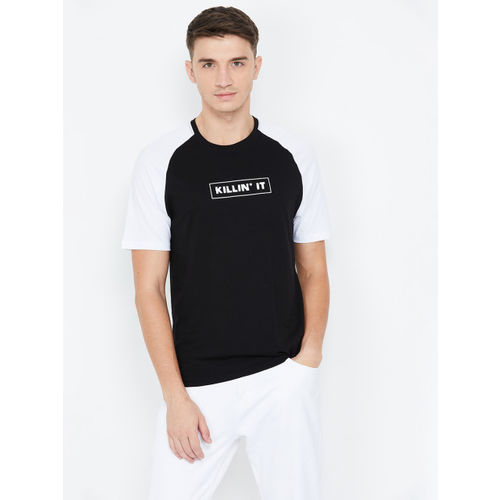 Fame Forever by Lifestyle Men & White Black Printed Round Neck T-shirt