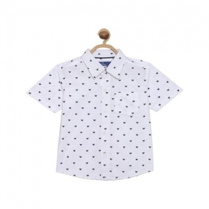 612 League Kids White Printed Shirt