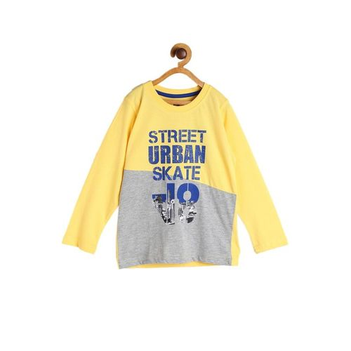 612 League Kids Yellow Printed T-Shirt