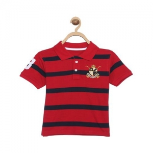 612 League Kids Red Striped Polo T-Shirt