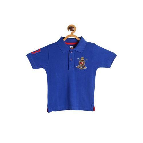 612 League Kids Blue Applique Polo T-Shirt