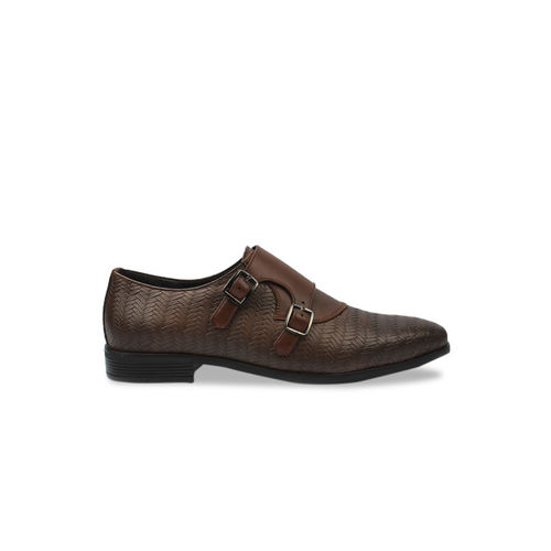 San Frissco Men Brown Formal Monk Shoes
