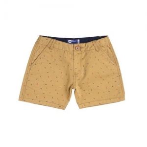 612 League Kids Mustard Printed Shorts