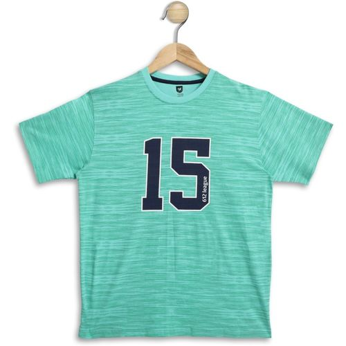 612 League Boys Solid Cotton Blend T Shirt(Light Green, Pack of 1)