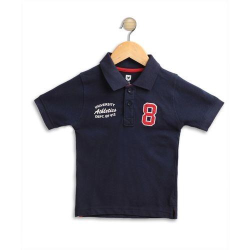 612 League Boys Solid Cotton Blend T Shirt(Blue, Pack of 1)