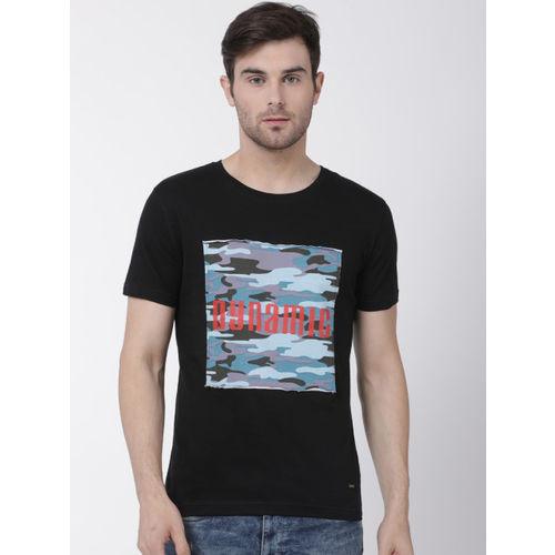 T-Tog Men Black Printed Round Neck T-shirt