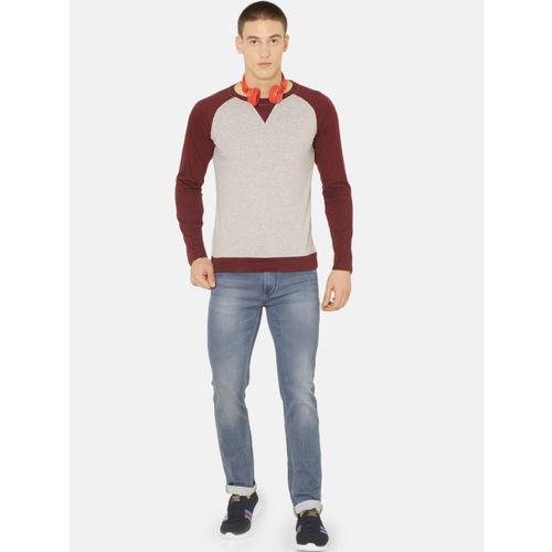 ARISE Men Grey Solid Round Neck T-shirt