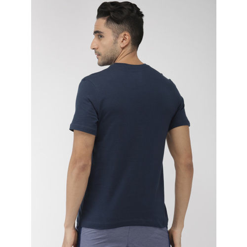 Nike Men Navy Blue Printed Standard Fit SS EXP 2 Round Neck T-shirt