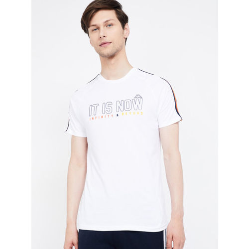 Kappa Men White Printed Round Neck T-shirt