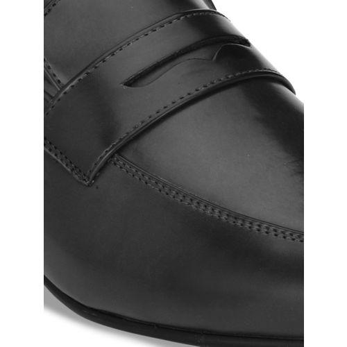 Ferraiolo Men Black Synthetic Leather Formal Slip-Ons