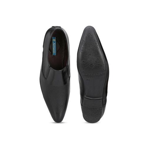 Ferraiolo Men Black Formal Synthetic Slip-Ons