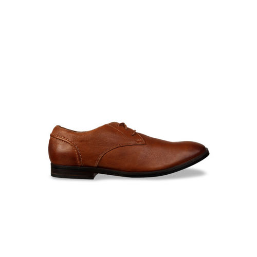 Clarks Men Brown Leather Formal Derbys