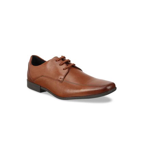 Clarks Men Brown Leather Formal Derbys
