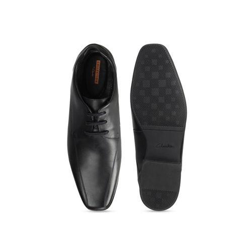 Clarks Men Black Leather Formal Derbys