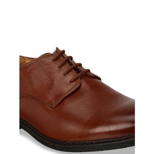 Clarks Men Black Solid Leather Derby Formal Shoes