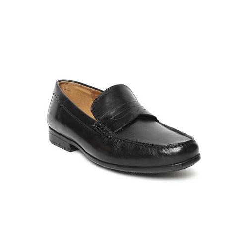 Clarks Men Black Formal Leather Loafers