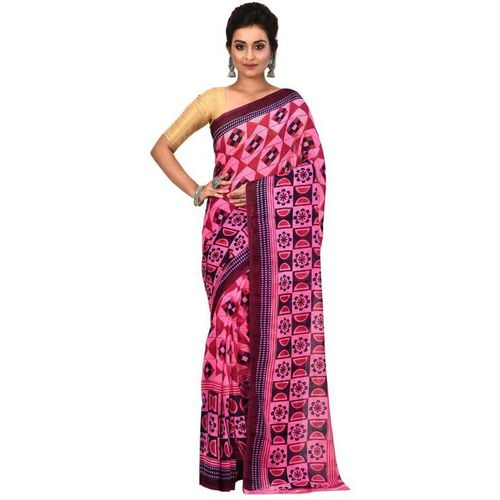 Aahiri Printed Fashion Chiffon Saree(Pink)