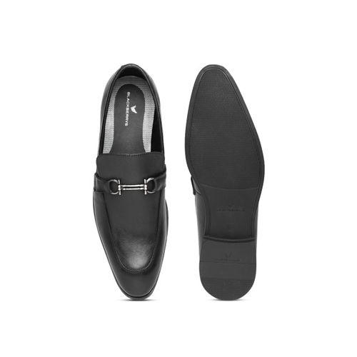 Blackberrys Men Black Solid Leather Semiformal Slip-Ons