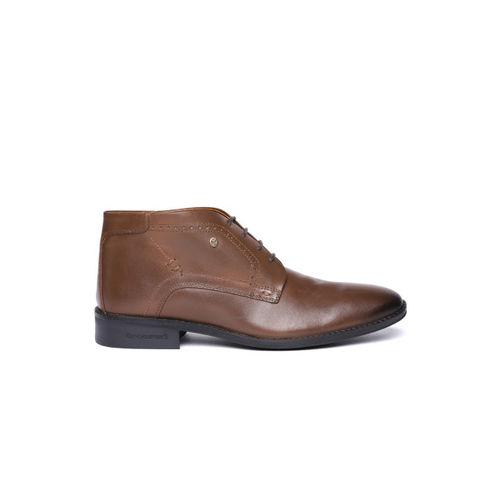 Blackberrys Men Brown Genuine Leather Mid-Top Formal Derbys