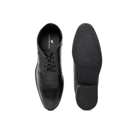 Blackberrys Men Black Genuine Leather Mid-Top Formal Derbys