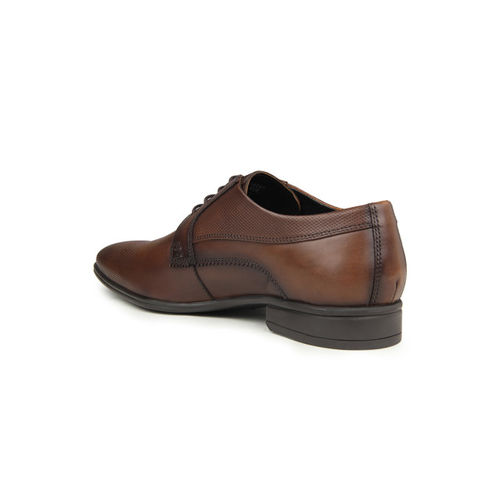 Blackberrys Men Brown Textured Leather Formal Shoes