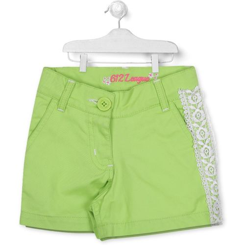 612 League Short For Boys Casual Solid Cotton Blend(Green, Pack of 1)