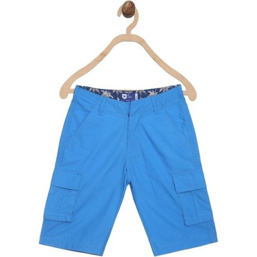 612 League Short For Boys Casual Solid Cotton Blend(Blue, Pack of 1)