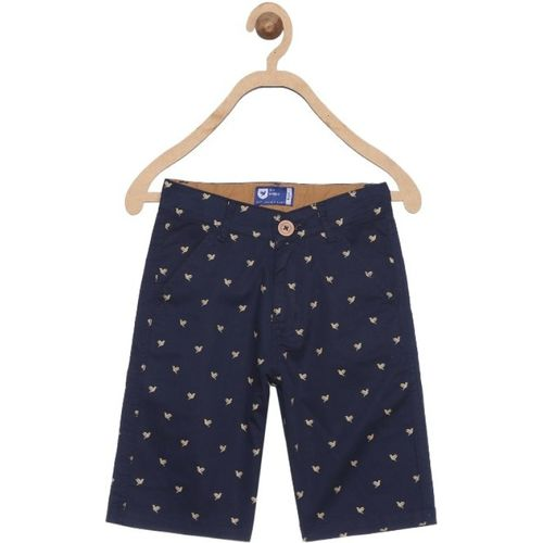 612 League Short For Boys Casual Printed Cotton Blend(Blue, Pack of 1)